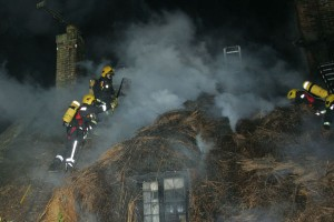 Firemen were able to save Hockley Cottage and Brook Cottages were repaired.