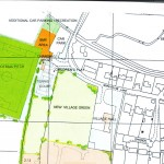 HGP plan showing football pitch located on Tyrwhitt Drake land