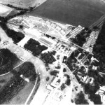 Aerial photograph of the site, with Leydene House lower right