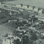 Aerial shot showing officers' housing at the southern rim of the Mercury site