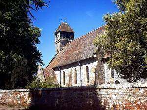 All Saints Church, Hinton  Ampner, where James Pink of Bramdean married Elizabeth Brier in 1817