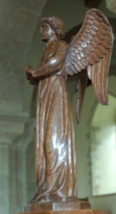 Angel on All Saints lectern