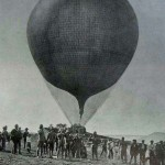 Army balloon unit at Boer War, similar to that deployed at the 1891 Manoeuvres.