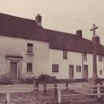 Barnards Cottages with War Memorial