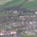 žCentral village including school