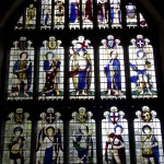 East Window of All Saints, commissioned as a War Memorial by Rev Thomas Heywood Masters, who spent the war at the front.