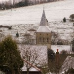 Church rooves in snow