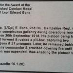Inscription of citation in London Gazette