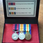 Bone's medals, the Distinguished Conduct Medal, the British War Medal and the Victory Medal.