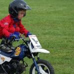 Young boy on motor bike