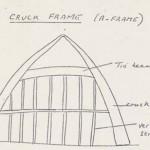Edward Roberts sketch of Cruck frame