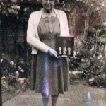 Ethel Horlock with her late husband's medals.
