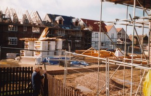Galleries of photographs showing the buildiing of The Green and sports facilities, October 2002 to May 2003