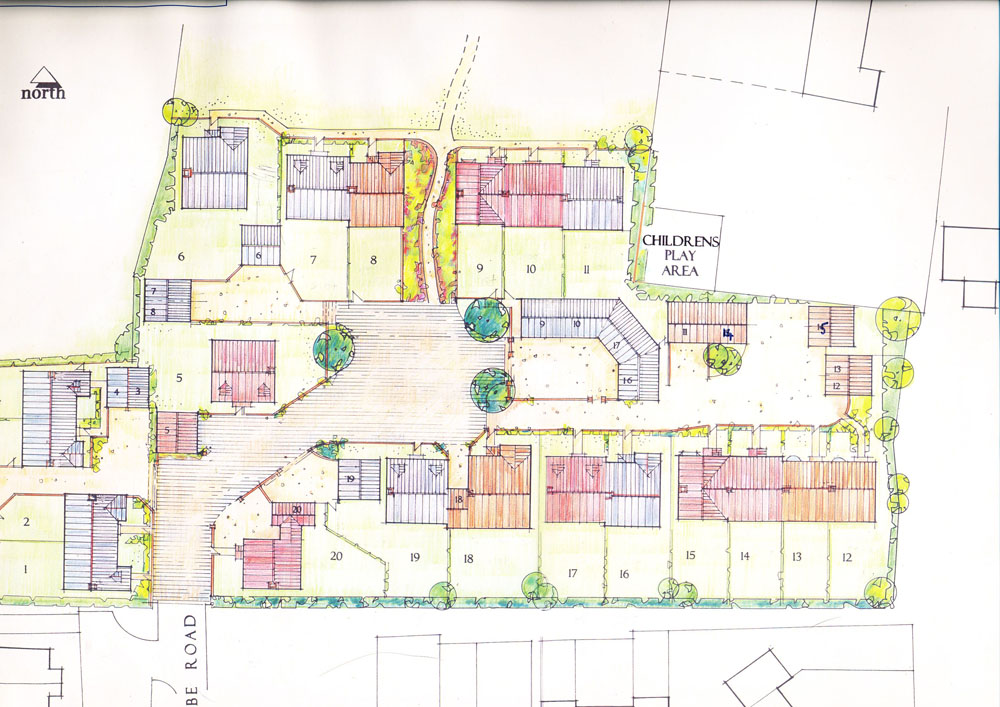 The Green, 20 houses plan | East Meon History