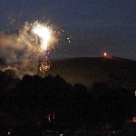 Fireworks over All Saints Church