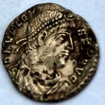 Second century Roman coin discovered during survey.