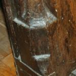Vase stops at the foot of reception room door.