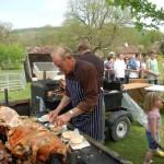 Frank Moffat at hog roast