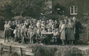 Celebrating VE Day by the river in Frogmore, 1945