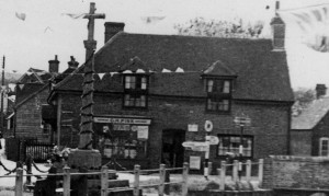 "From Margery Lambert's recollection of shops in East Meon in the 1920s, ""1 Hardware Store (Pinks) supplied the village with hardware."" From recollections of World War !! ""When he came home, he'd stand on the bridge at Pink's corner and play marbles with the children."""