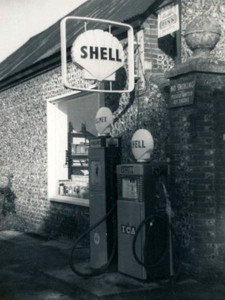Petrol pump outside yard of Glenthorne
