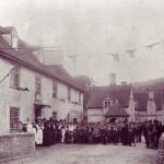 Gathering outside George Inn