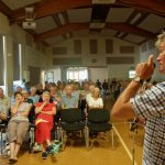 Local farmer and historian George Atkinson spoke in September 2016 about