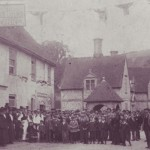 The George Inn, dates back to the 16th century, seen here with staff and customers celebrating Queen Victoria's Golden Jubilee