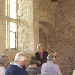 Gilly Drummond, President of Hampshire Gardens Trust, spoke in the Court Hall in July 2014 about Historic Gardens