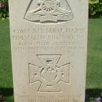 The gravestone at Hadra Cemetery