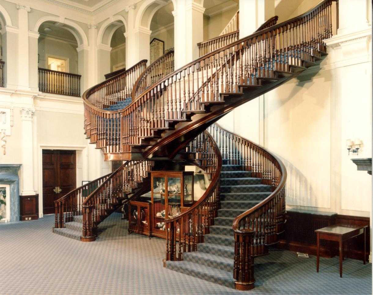 Hms mercury main house staircase east meon history - Stairs in home ...