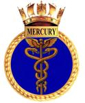 The insignia of HMS Mercury