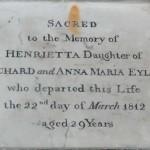 Henrietta Eyles 1812 age 29