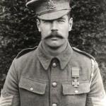 Ernest George Horlock wearing his Victoria Cross