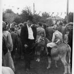 J. Pollard with donkey