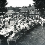 Jubilee tea on Glenthorne Meadow
