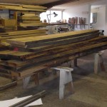 At the end of May that year,  kiln dried boards are delivered to his workshop.