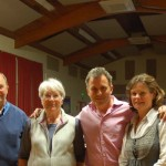 The organisers of East Meon Moviola, left to right, Michael and Tricia Blakstad (2006 - 2014) and Chris and Lucy Hollis, who took over from them