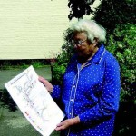 Margery Lambert with her map