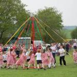 Children dancing at Maypole