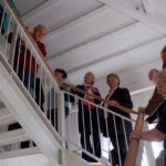Group on stairs of Naval Museum
