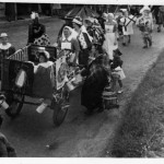 Nurses with Bed in procession along Meon