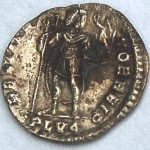 Obverse of Roman coin discovered during survey