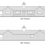 Pavilion front and rear elevations
