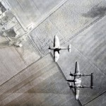 Planes over farmland