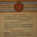 Plaque in St Laurence Church Hall, Petersfield