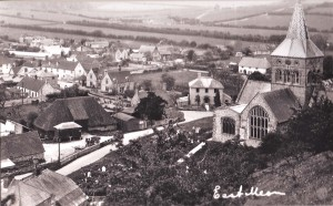 The rifle range is the long, light roof at the top left of this postcard.