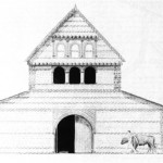 Reconstruction of Shavards Farm front elevation
