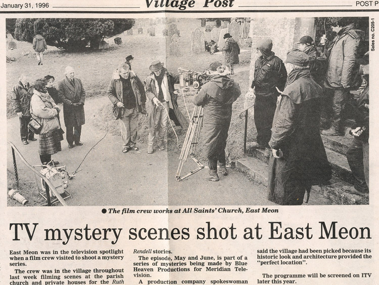 Ruth Rendell Mystery shot in East Meon
