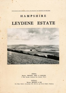 Cover of the catalogue listing the elements of the estate which were auctioned in 1953